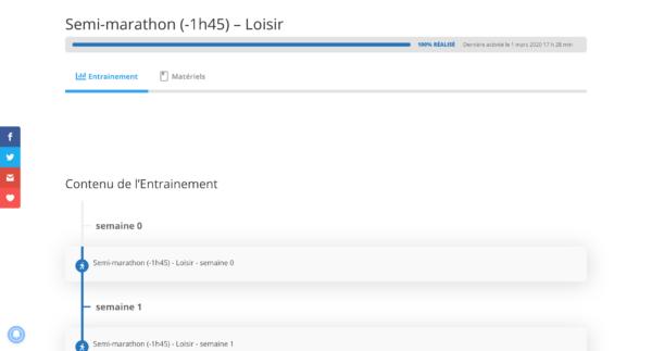 Semi-marathon -1h45 Loisir